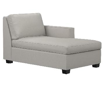 West Elm Henry Chaise Lounge