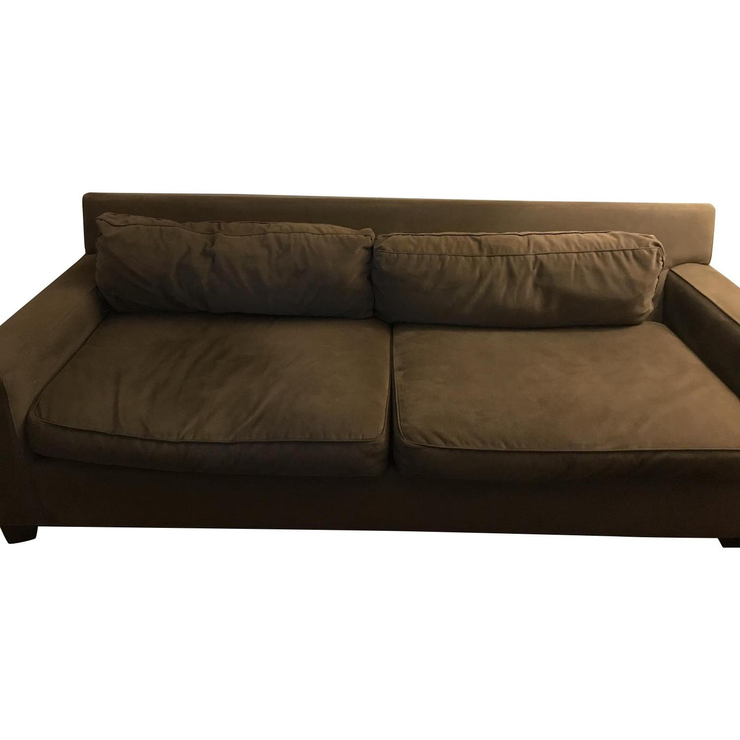 West Elm Microsuede Sofa ...