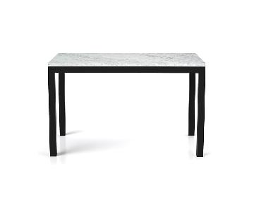 Crate & Barrel White Marble Top Counter-Height Dining Table