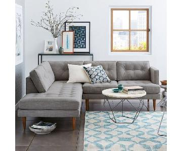 West Elm Peggy Mid-Century Chaise Sectional Sofa