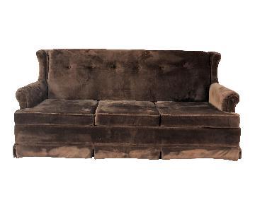 Jamison Vintage Brown Crushed Velvet Sofa