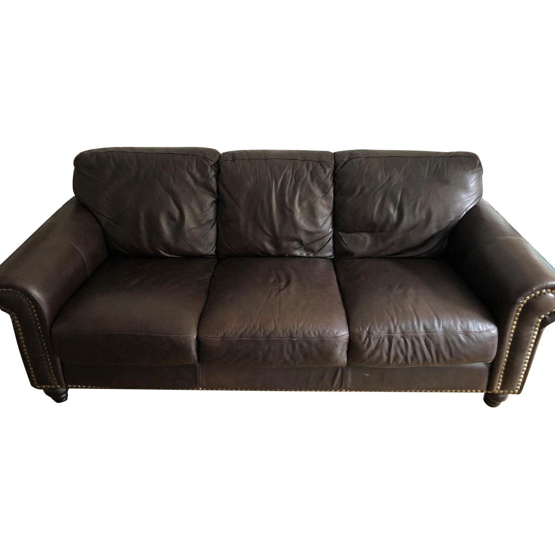 dark brown leather sofa aptdeco