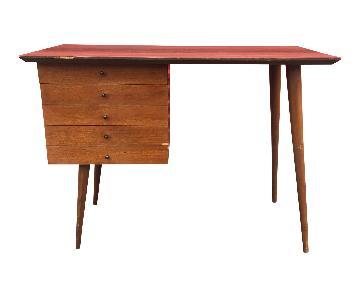 Mid Century Modern Three Drawer Desk