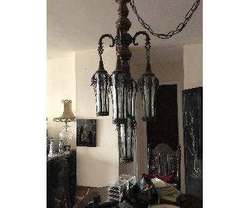 antique ceiling lamp and matching table lamps