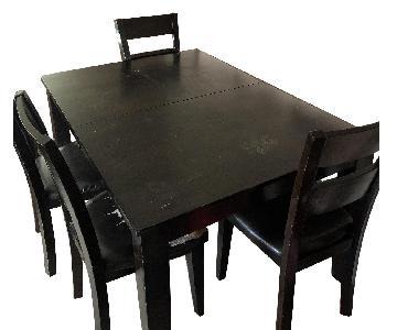 Raymour & Flanigan Dark Wood Dining Table