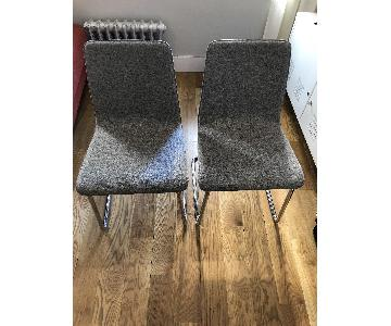 CB2 Pony Grey Tweed Chair