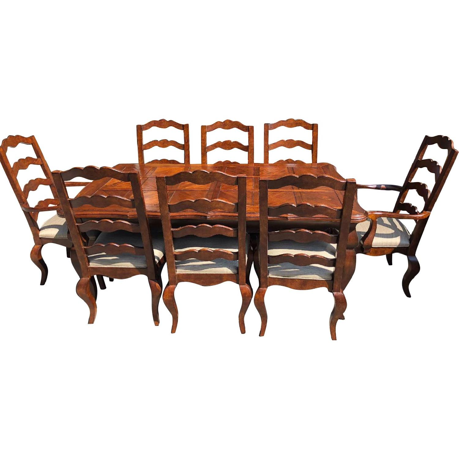 Century Furniture Extendable Dining Table w/ 8 Chairs