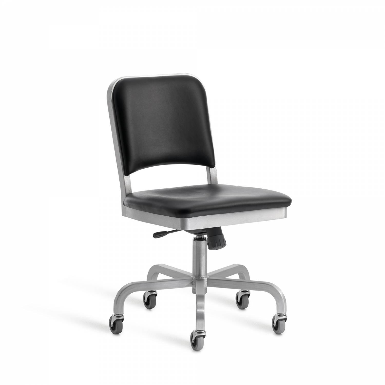 Emeco Navy Semi Upholstered Swivel Chair ...