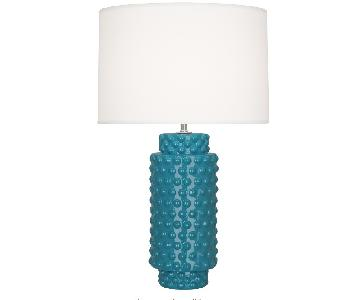 Robert Abbey Dolly Table Lamps in Peacock