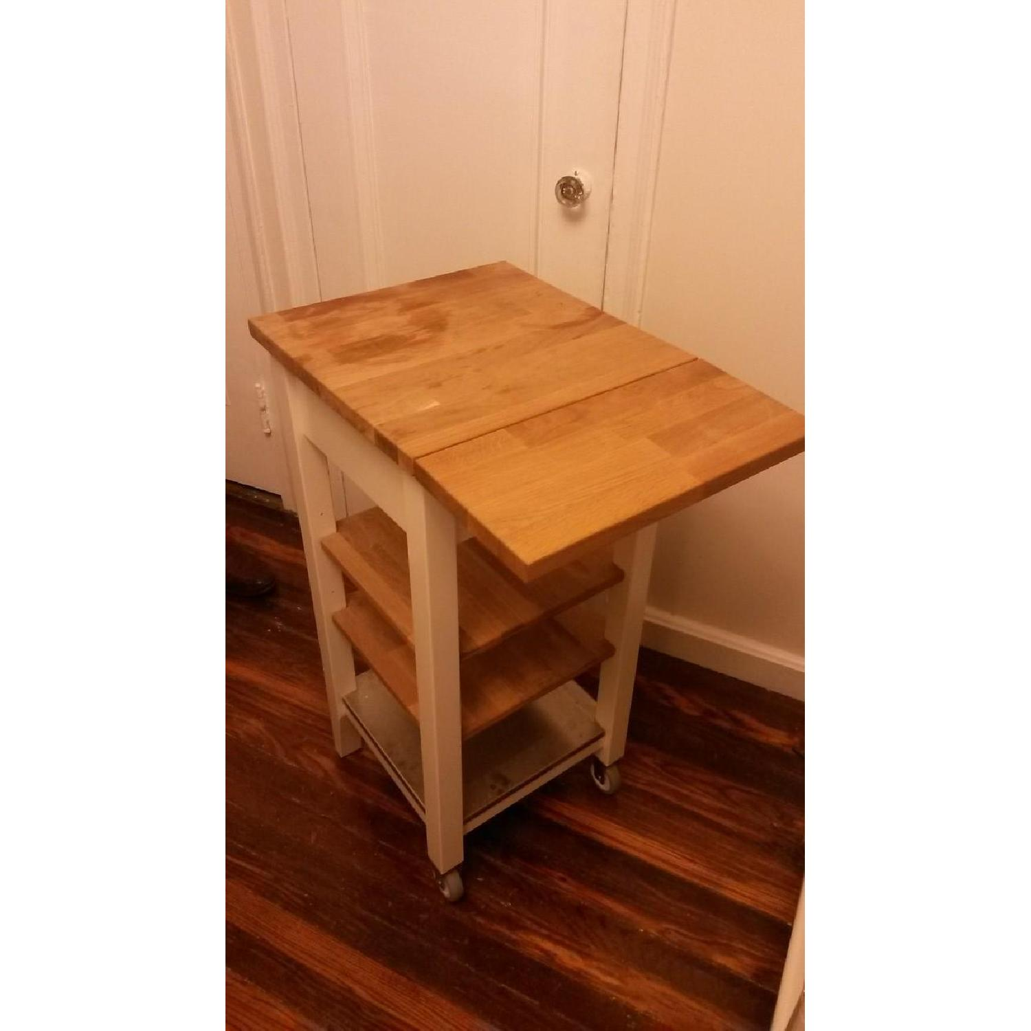 Ikea Cutting Board/Storage Table