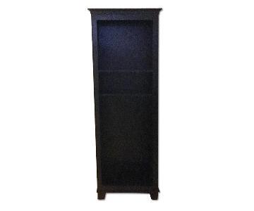 Crate & Barrel Black Bookcases