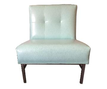 Vintage Mid-Century Knoll Tufted Leather Chair