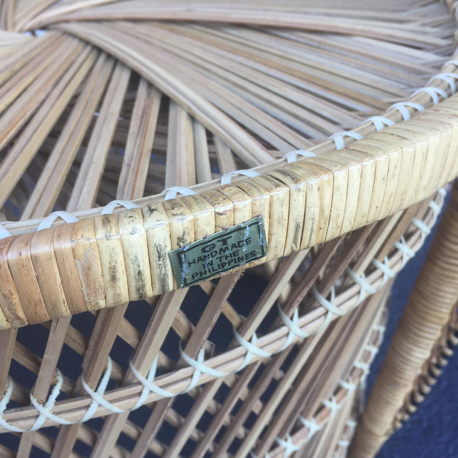 Vintage Wicker Low Throne Chair - image-2