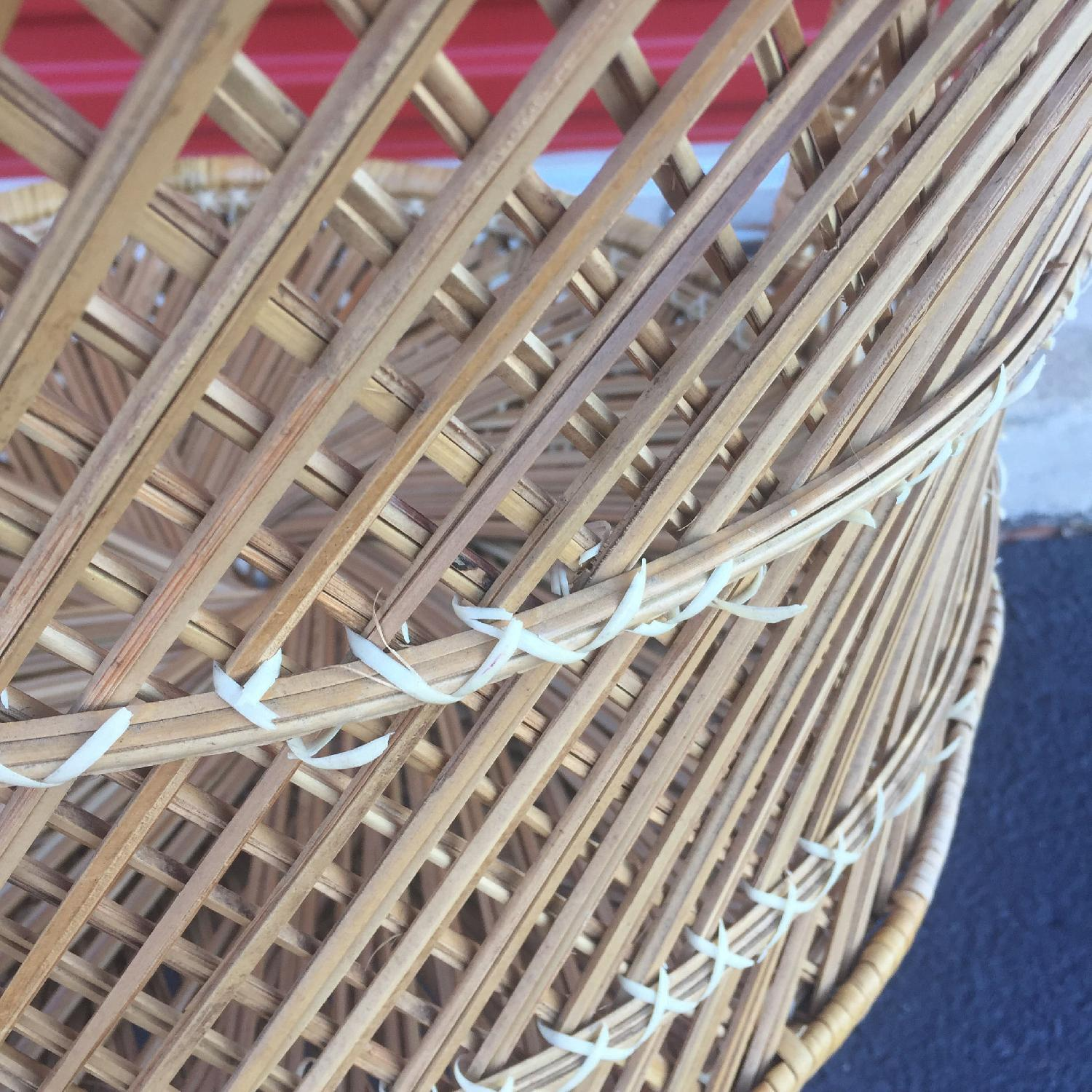 Vintage Wicker Low Throne Chair - image-3