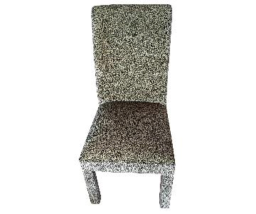 Fortunoff Leopard Print Dining Chairs