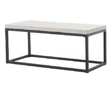 ABC Carpet & Home Modern Concrete Coffee Table w/ Iron Base