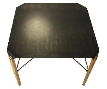Natural Steel & Wood Coffee Table