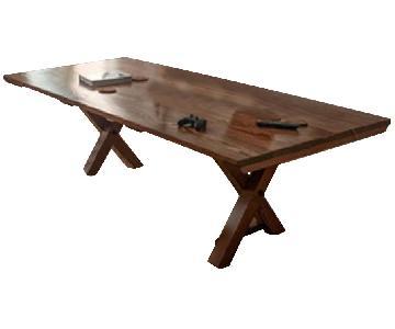 Emmor Works Hand Made Trestle Table