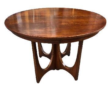 Broyhill Furniture Mid Century Walnut Round Table
