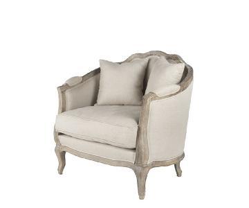 Wisteria Linen European Natural Linen Chairs