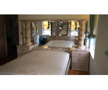 Italian marble Queen bed