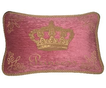 Pink & Gold Princess Pillow