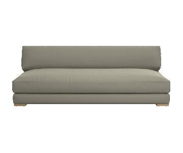 CB2 Piazza Sofa in Grey Microfiber Fabric