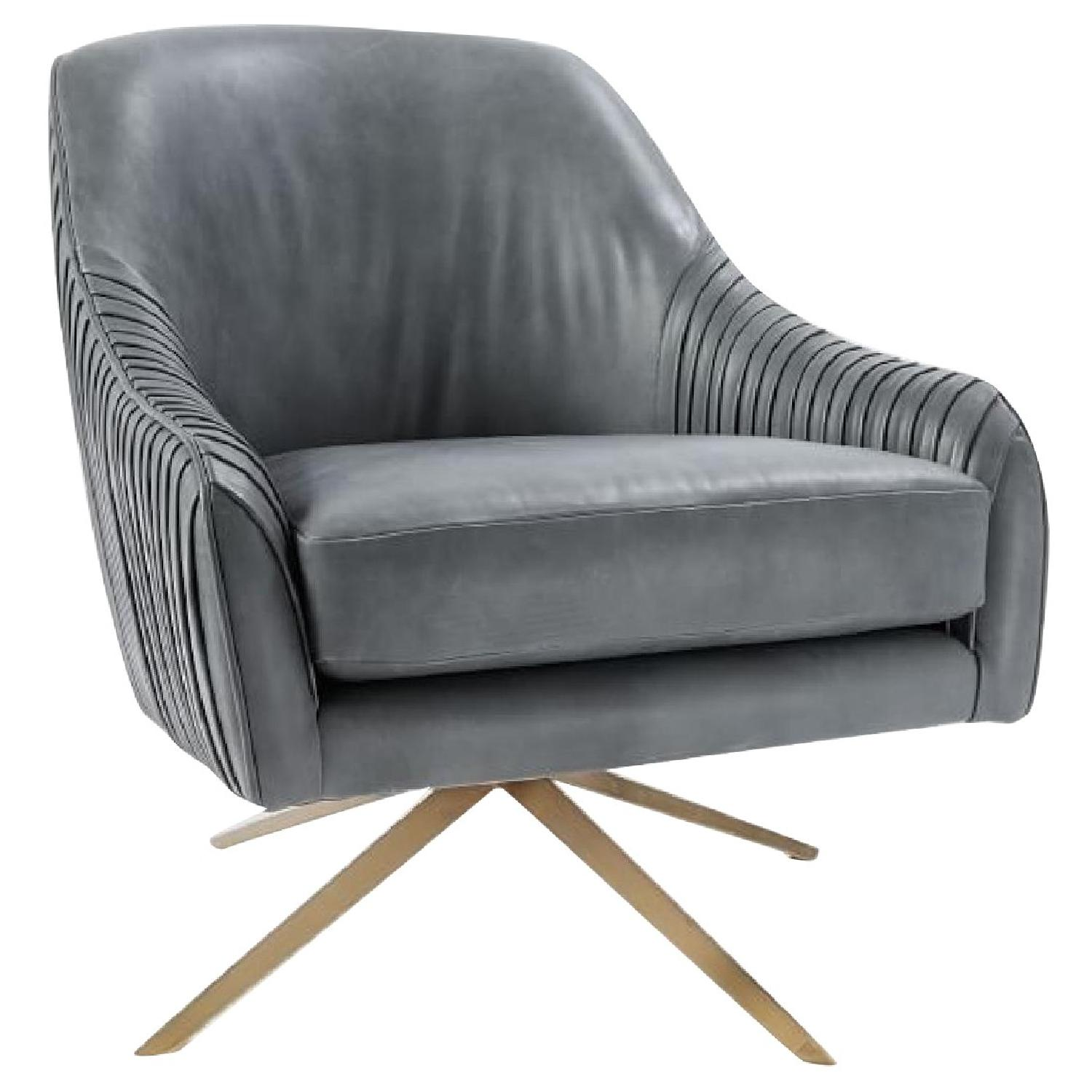 West Elm By Roar + Rabbit Swivel Chair In Leather ...