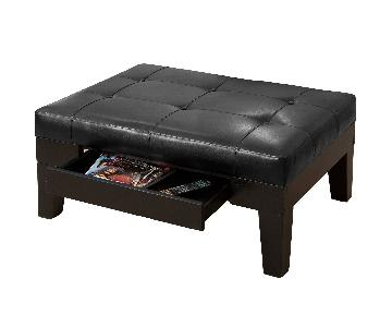 Christopher Knight Chatham Faux Leather Storage Ottoman