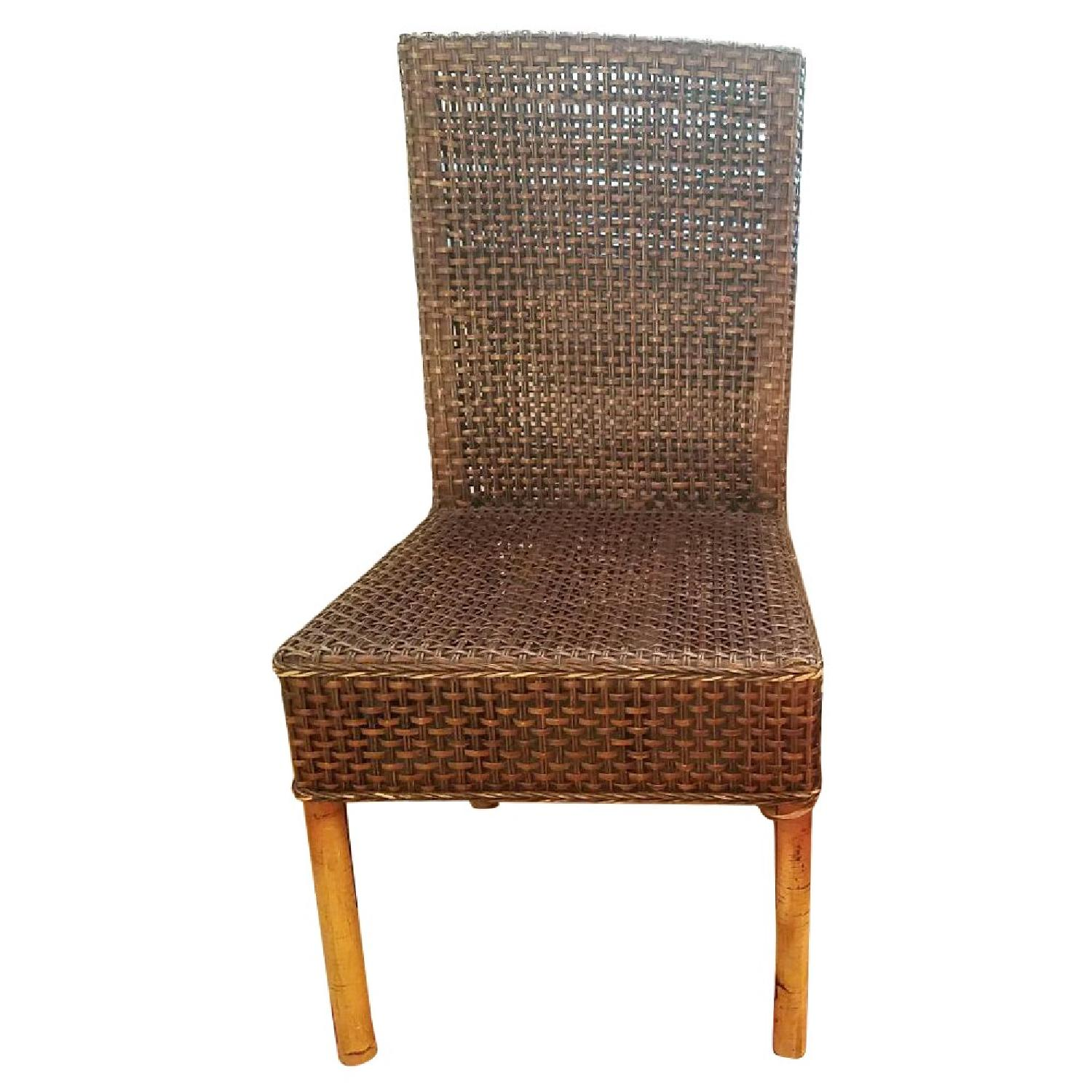 Crate Barrel Basque Dining Chair In Java W Cushions Aptdeco