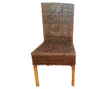 Crate & Barrel Rattan Chairs