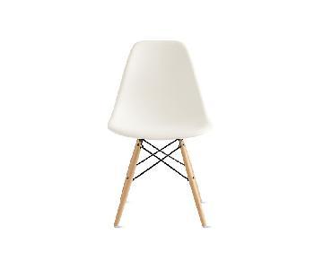 Eames Wafer Molded Plastic Walnut Dowel Leg Side Chair