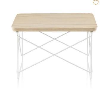 Herman Miller Eames Wire Base Low Table w/ White Ash Top
