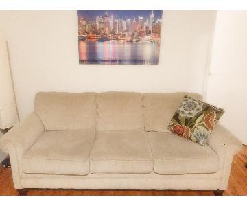 Ashley 3-Seater Sofa in Tan Fabric