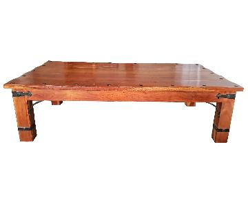 Solid Wood African Mahogany Coffee Table