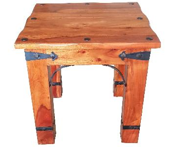 Solid Wood African Mahogany Side Table