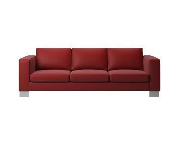 BoConcept Indivi 2 Red Leather Sofa