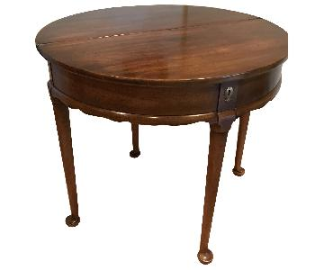 Convertible Wood Side Table/Dining Table