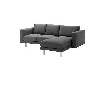 Ikea Norsborg Grey Sectional Sofa w/ Chaise
