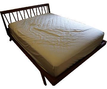 Solid Mahogany Platform Queen Bed
