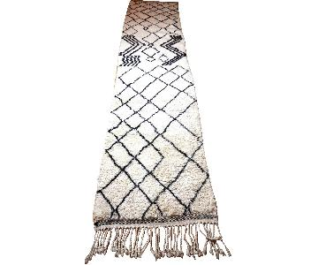Moroccan Vintage Beni Ourain Runner Carpet Rug