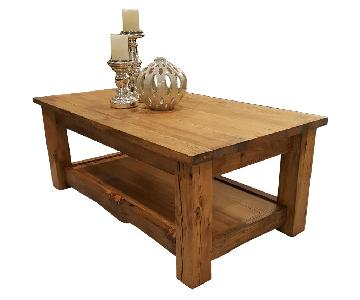 Wood Coffee Table + 2 Side Tables