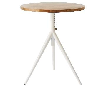 West Elm Height Adjustable Bistro Table in Mango/White