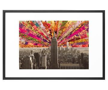 Bianca Green Framed Art Print: Blooming NY