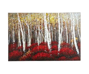 Pier 1 Red Birch Trees Painting