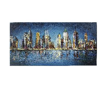 Pier 1 Lively City by Night Wall Art