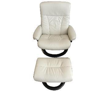 Stressless Sunrise Recliner Chair & Ottoman