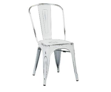 Rustic White Dining Chairs