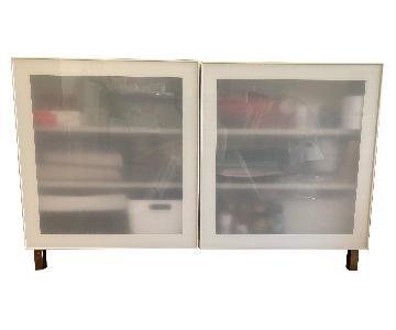 Ikea Besta Storage Combination w/ Glass Doors