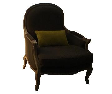 Restoration Hardware Custom Brown Lyon Chairs